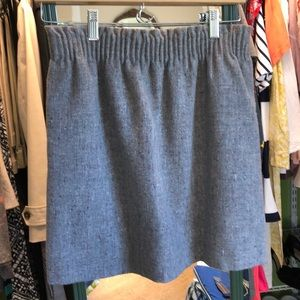 J.Crew Grey Tweed Skirt